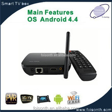 Hot Selling Quad core Android TV-box, RK3188 smart TV box, 4K HD and H.265 IP Android TV-box