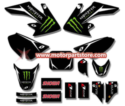 3M GRAPHICS STICKERS for HONDA CRF50 CRF50F 2004-2012 TSX-DGS002