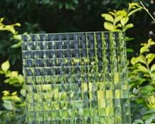 4mm 5mm 6mm clear color tempered patterned glass for window and shower
