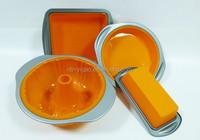 FDA/LFGB silicone cake pans/silicone cake molds/silicone bakewares with non stick metal rim