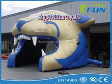 inflatable tiger helmet /inflatable football helmet /inflatable football helmet tunnel