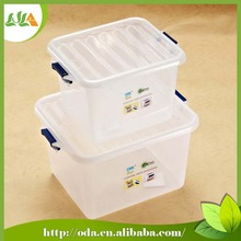 2015 latest style durable modeling plastic storage box with lock 2 size