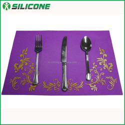 New products heat resistant silicone placemat resuable dinner placemat