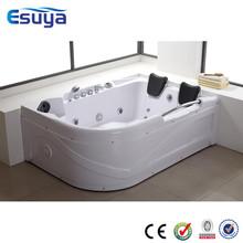 Indoor two people luxury whirlpool massage acrylic bathtub with seat