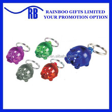 Hot selling promotional plastic cute pig shape Arcylic keychain ABL411