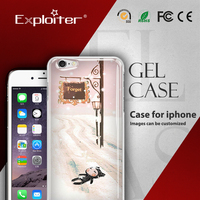 Top level best sell 3d handphone cover case for iphone 5 plus case soft