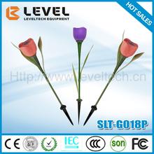 2V/35MA Polycrystalline Outdoor Tulip Flower Solar Lighting