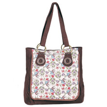 Cotton floral sling bag for women/big bag with fashion pattern for ladies