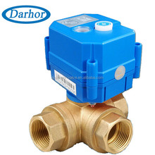 Long service life 3way motorized ball valve