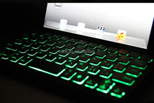 Ultra-Slim illuminated Bluetooth Wireless Aluminum Keyboard Cover case with LED light for iPad mini 3 / mini 2 / iPad mini