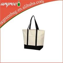 Plain Tote Cotton Canvas Bag With Logo