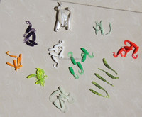 shandong fishing lure manufactures 10 different kind set clam pack lure bait set
