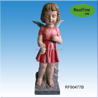 Polyresin resligious angel statue for wedding souvenier