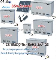 solar outside travelling camping top double chest deep door horizontal refrigerator refrigeration refrigrating fridge freezer
