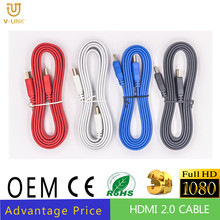 High speed HDMI CABLE 2.0 with Gold Plated 3D support 1080P