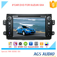 8 inch fixed digital panel car DVD player for SUZUKI SX4 with GPS TV and bluetooth