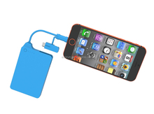 Build in 2in1 cable MFi power pack 4000mah for iphone and android devices
