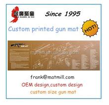 High quality non slip gun cleaning mat, OEM brand full color printed gun mat