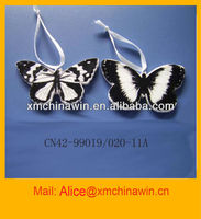 2013 Hand Painted Ceramic Butterfly Ornament for Decoration