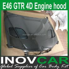 E46 4D GTR design afermarket hoods for Bmw e46 engine hoods
