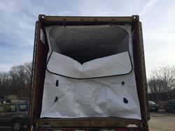 pp pe aluminum fabric 20ft dry bulk liner for dry cargo..