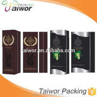 Newest custom and different design decorative paper box for wine