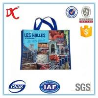 fashion fabric plastic shopping bag/designer hand bag