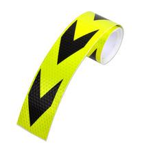 Custom high qulity arrow sticker reflective car sticker with arrow / white red black blue yellow reflective tape bike motorcycle