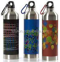 2015 new products whole promotion Aluminum metal drinking water bottle with straw
