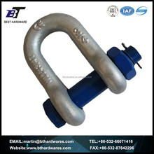 US STANDARD U SHAPE FORGED CHAIN SHACKLE WITH SAFETY PIN