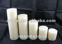 white pillar church candles