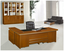 modern L shape melamine executive office desk