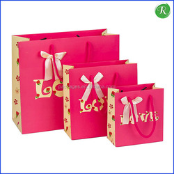 Pink Wedding Gift Bags/Kids Birthday Party Ribbon Tie Gift Bags