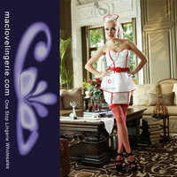ML5357 New Arrival Women's White PVC Sexy Latex Nurse Costume