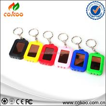 Mini Light Lamp Torch Solar mini light Power Rechargeable 3 LED Flashlight Keychain Hot Search