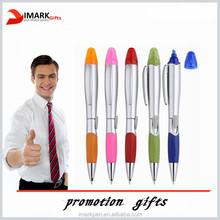 2 in 1 Plastic Ballpoint Pen / Highlight Pen