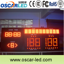 16 segment led display indoor red color basketball score led board