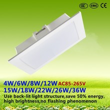 new products led ceiling light back-light led light 4W/6W/8W/12W/15W/18W/22W/26W/36W led ceiling embedded square panel light