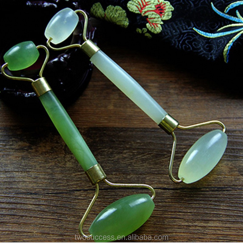 trending hot products green jade rough face massage roller .jpg