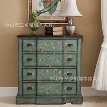Kam wood furniture American four of ark of coloured drawing or pattern Solid wood porch ark Vestibular ark Do old sitting room a