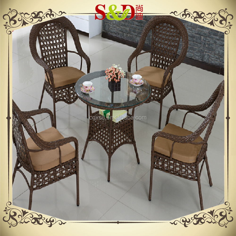 Sd 2015 outdoor aluminum uv plastic wood 4 person dining for 4 person dining table set