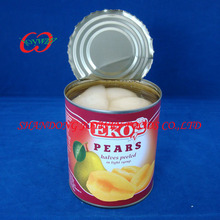 Top quality Syrup fruits, ,Canned bartlett pear halves/half in light syrup