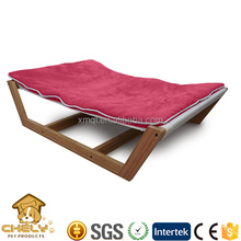 2016 Luxury bamboo wooden pet hammock bed for wholesale
