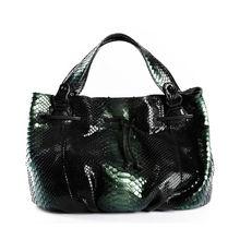 Newest Handbag for Sale Genuine Python Snake Skin Leather Hobo Bag for women Dark Green