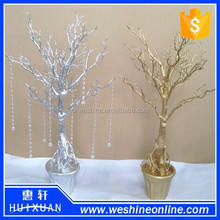 Popular Gold Crystal Artificial Tree or Wedding Tree Centerpiece