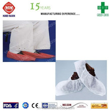 nonwoven and non cycling shoe cover with latex free rubberband