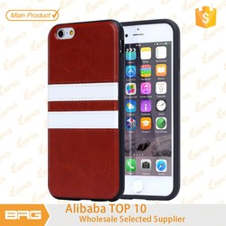 BRG whosale TPU + Leather Phone Case For iPhone 6