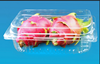 disposable soft thin plastic serving pp fresh fruit tray packaging box