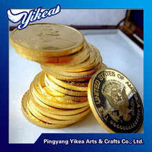 24k gold plated metal coin custom metal coin