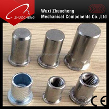 Stainless SS304 A2 SS316 A4 flat head close end M8 Rivet Nuts